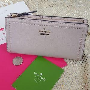 NWT Kate Spade Wallet BRAYLON Warm Beige